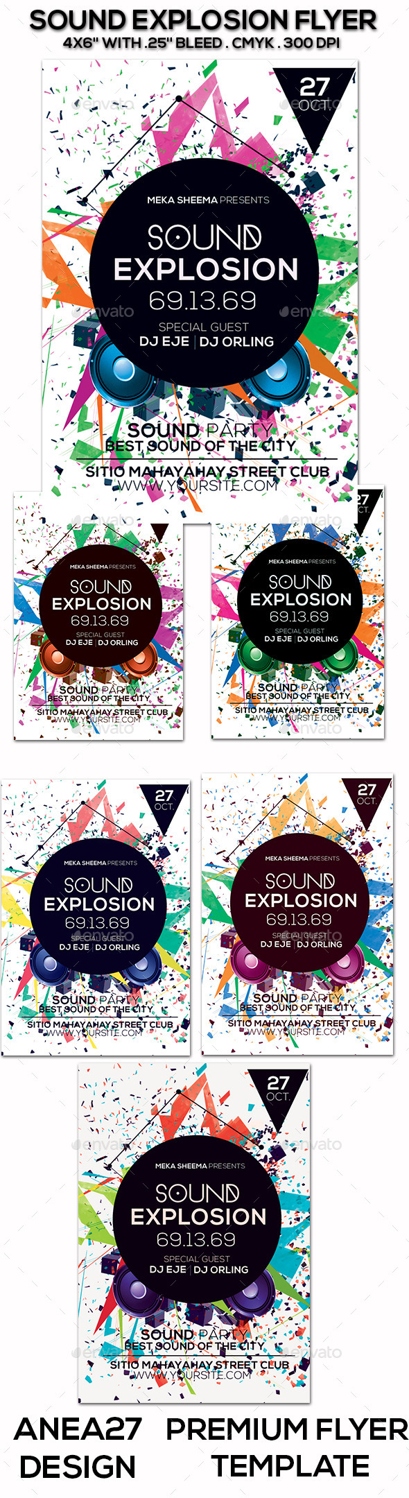 Sound Explosion Flyer - Clubs & Parties Events
