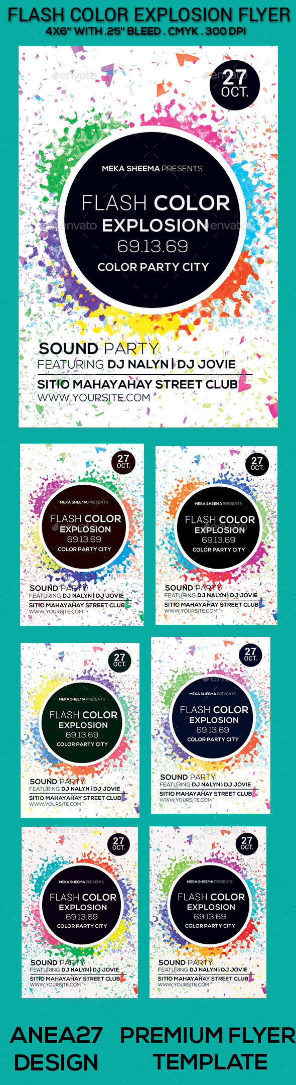 Flash Color Explosion Flyer - Clubs & Parties Events