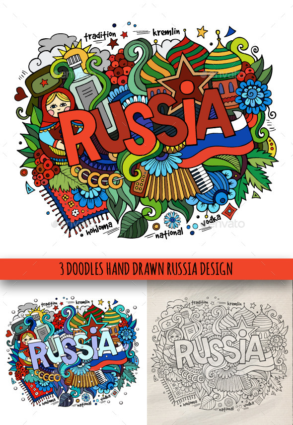 Russia Doodles Designs - Travel Conceptual