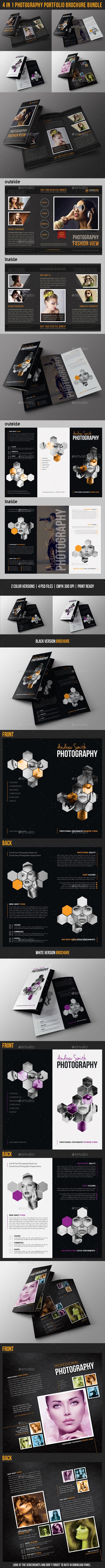 4 in 1 Photography Portfolio Brochure Bundle - Portfolio Brochures