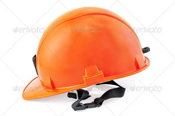 Helmet Orange - Stock Photo - Images