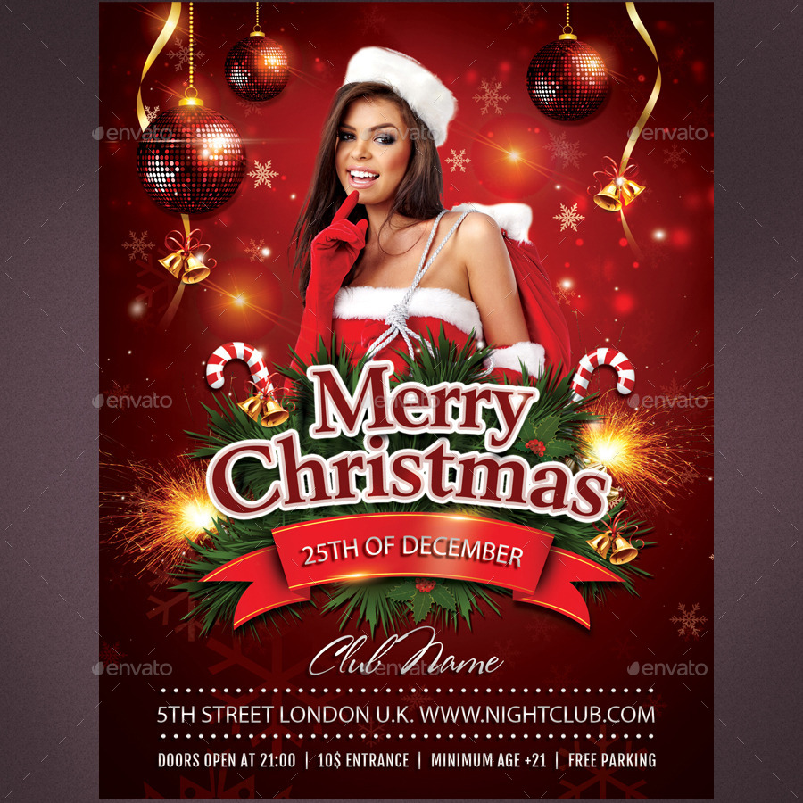 Merry christmas flyer by rembassio graphicriver for Merry christmas flyer