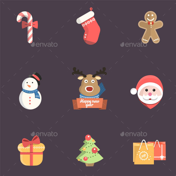 Christmas Icon Pack Psd - Icons