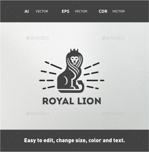 Royal Lion - Crests Logo Templates