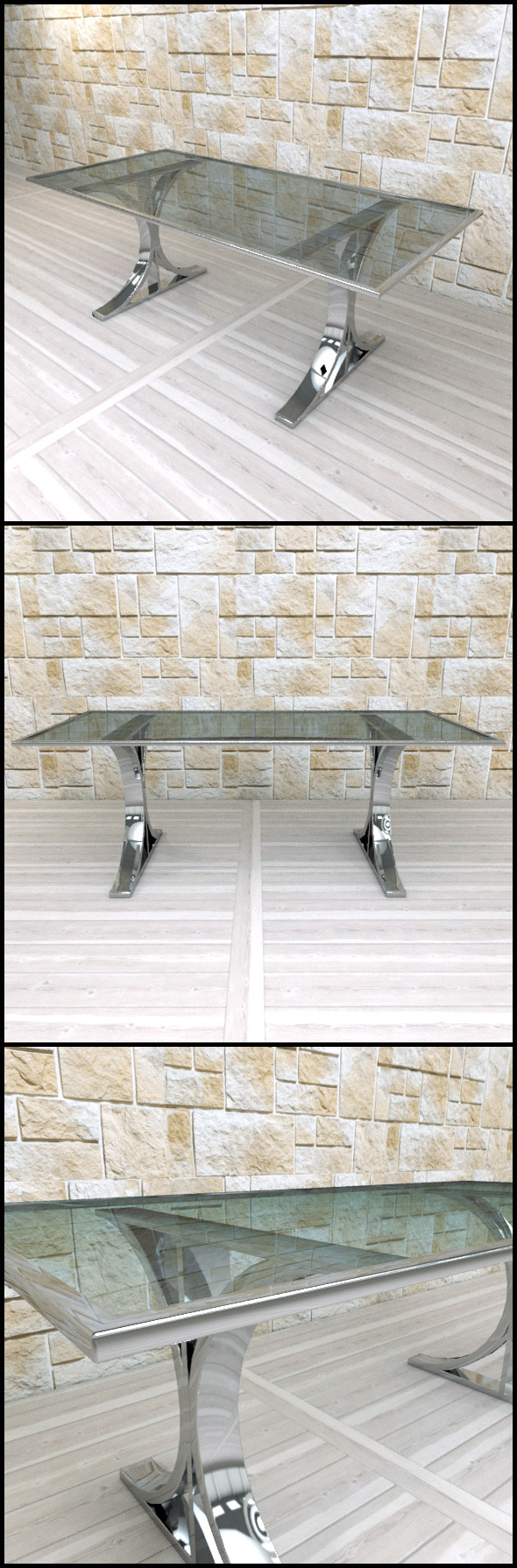Andrew Martin: Brion Dining Table  - 3DOcean Item for Sale