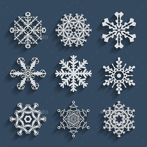 Snowflakes Icons - Seasons/Holidays Conceptual