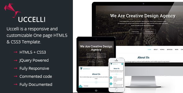 Uccelli One Page Responsive WordPress Theme