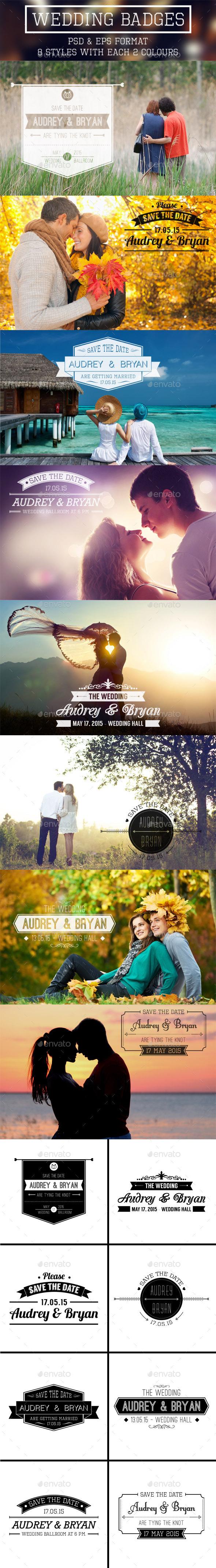Wedding Bagdes - Badges & Stickers Web Elements