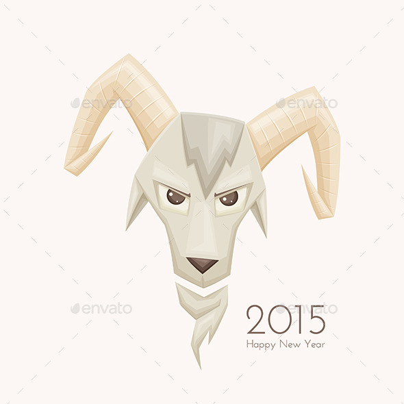 Goat with Rounded Horns - Characters Vectors