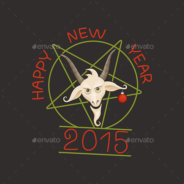 Happy Year of the Goat - Conceptual Vectors