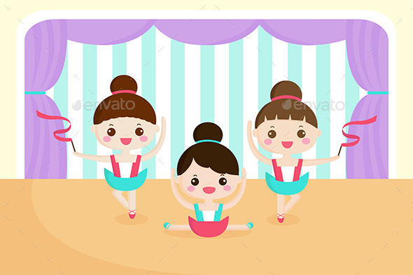 Little Girls in a Ballet Performance - Sports/Activity Conceptual