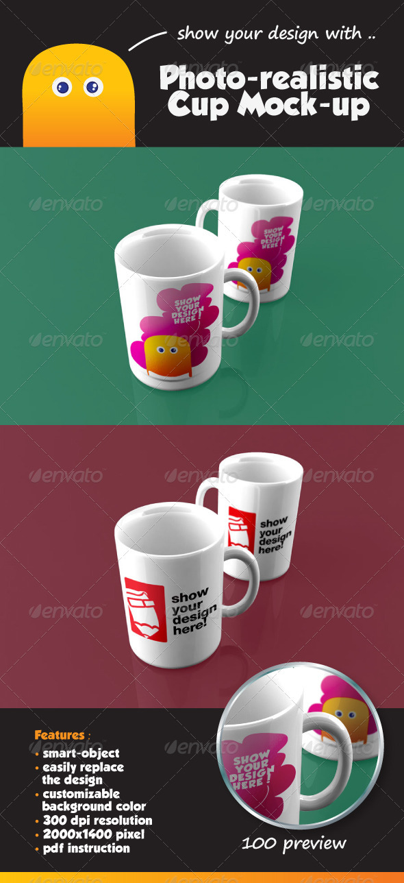 Photo-Realistic Cup Mock-Up - Food and Drink Packaging