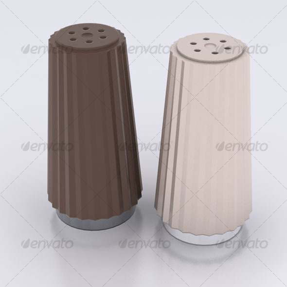 Salt & Pepper Shakers - 3DOcean Item for Sale