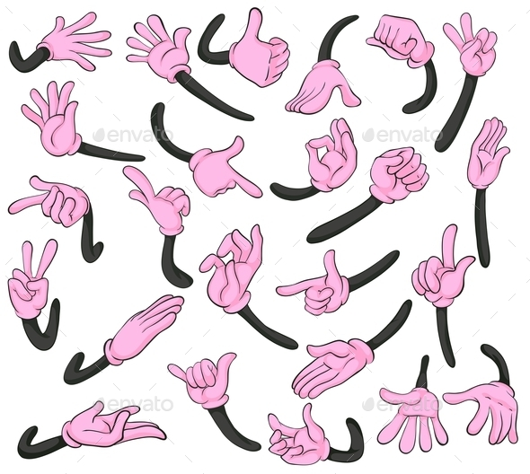 Hands Signals - People Characters