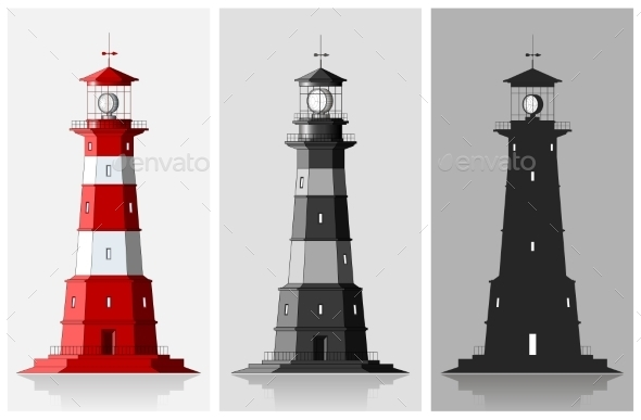 Set of of Lighthouses  - Buildings Objects