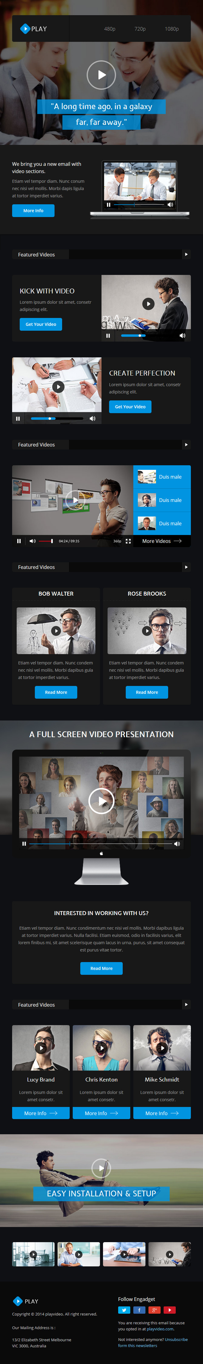 Play - Responsive Video Email Template + Builder by digith | ThemeForest