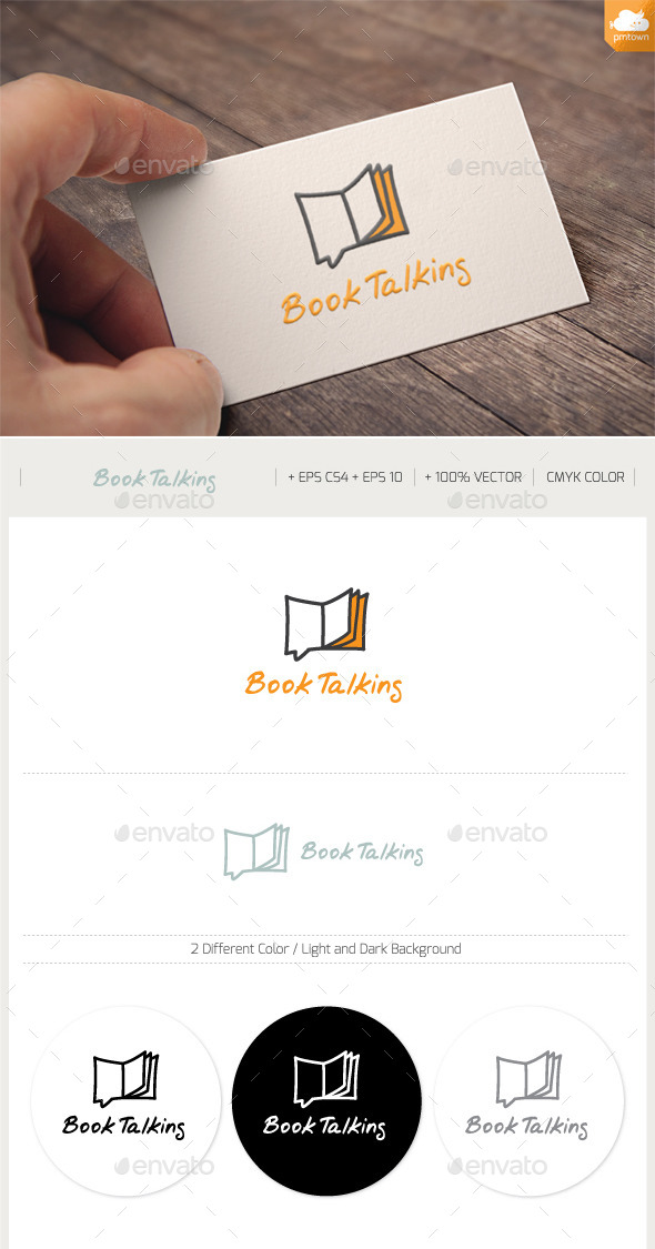 Book Talking - Symbols Logo Templates