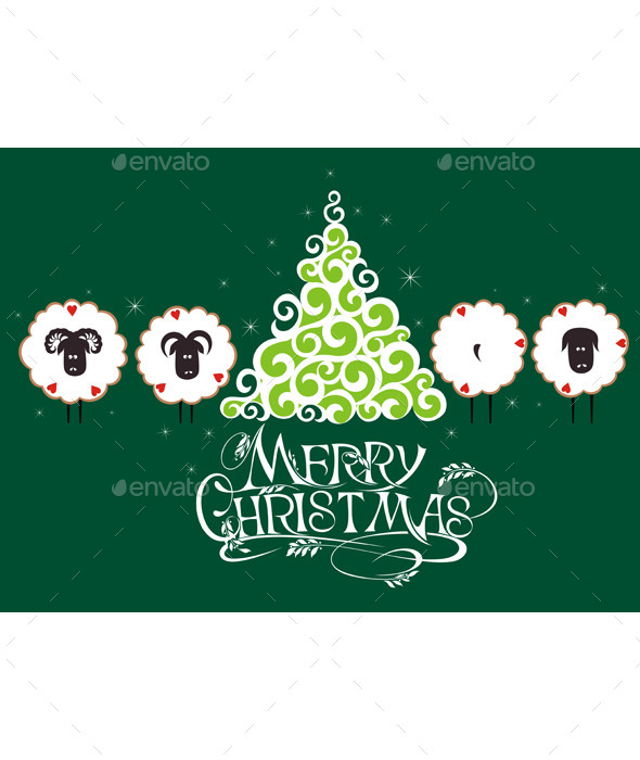 Merry Christmas Card - Backgrounds Decorative