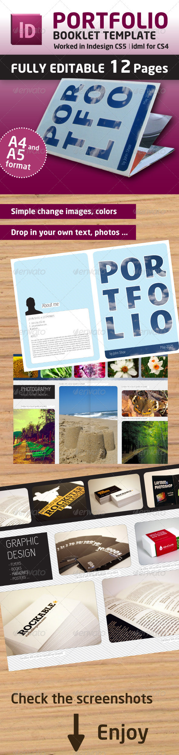 Portfolio Booklet A4 and A5 Format (12 Pages) - Portfolio Brochures