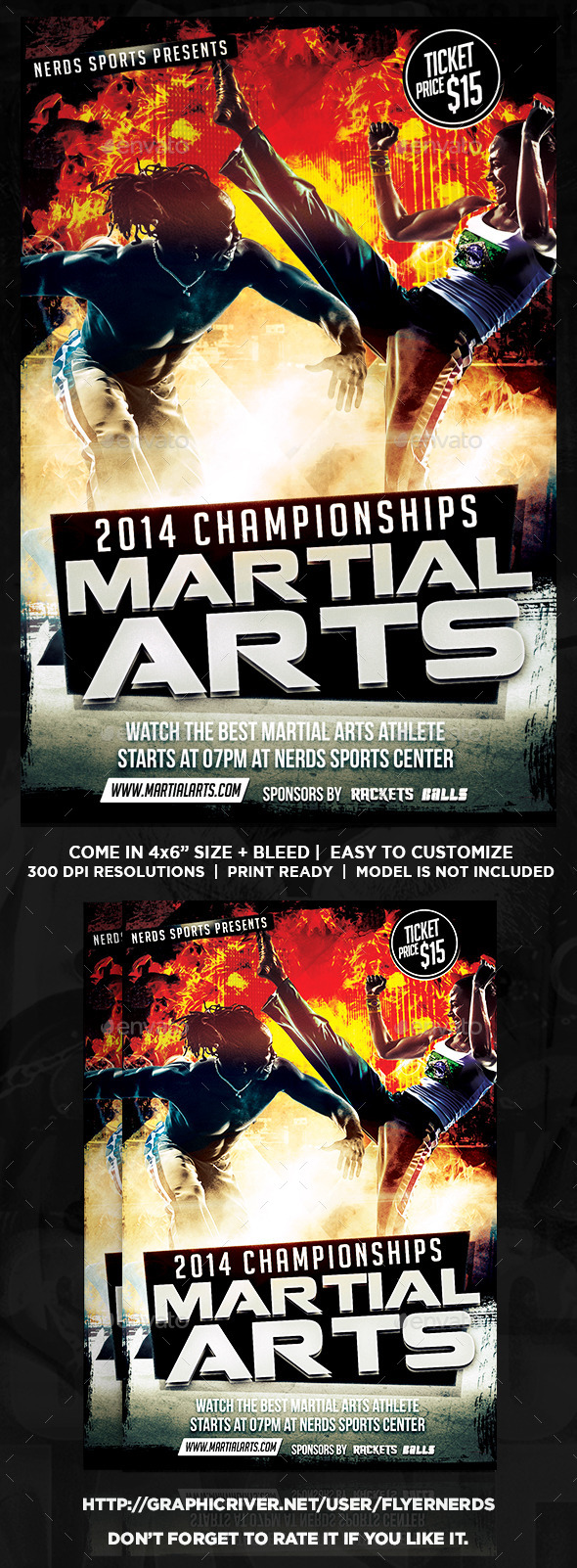 Martial Arts Sports Flyer - Sports Events