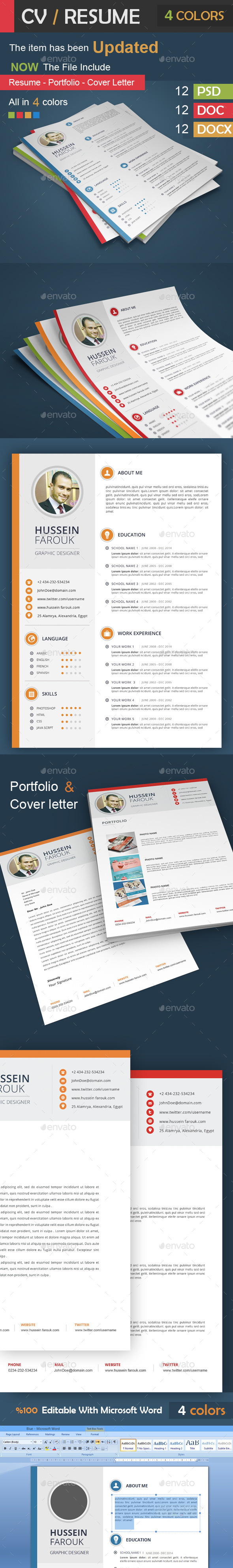 CV / Resume - Portfolio - Cover Letter  - Resumes Stationery