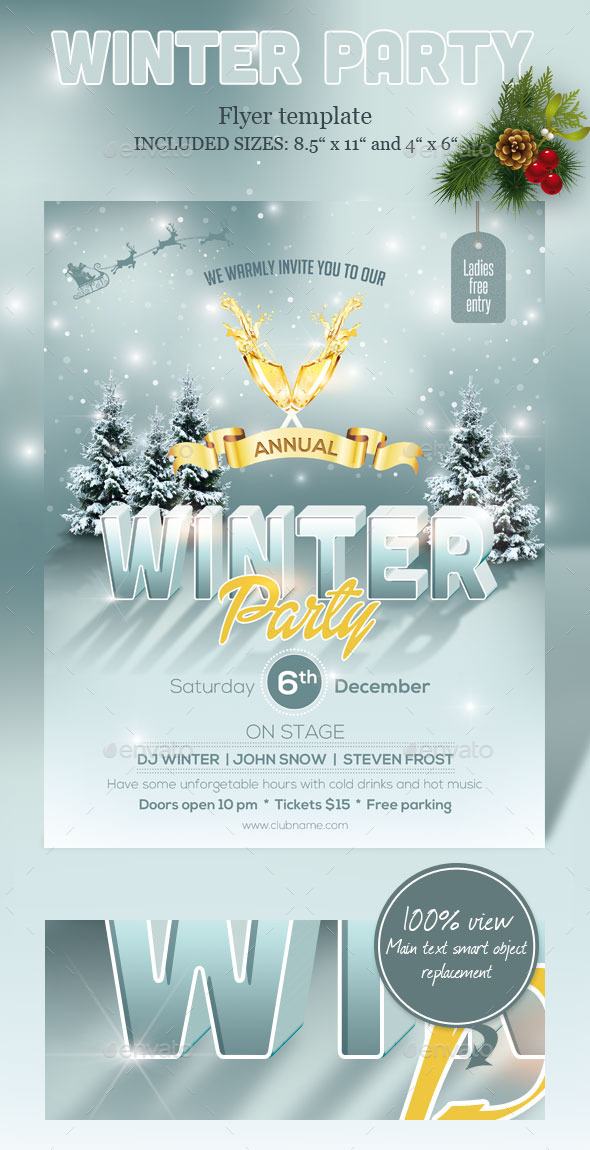 Winter Party Flyer - Events Flyers