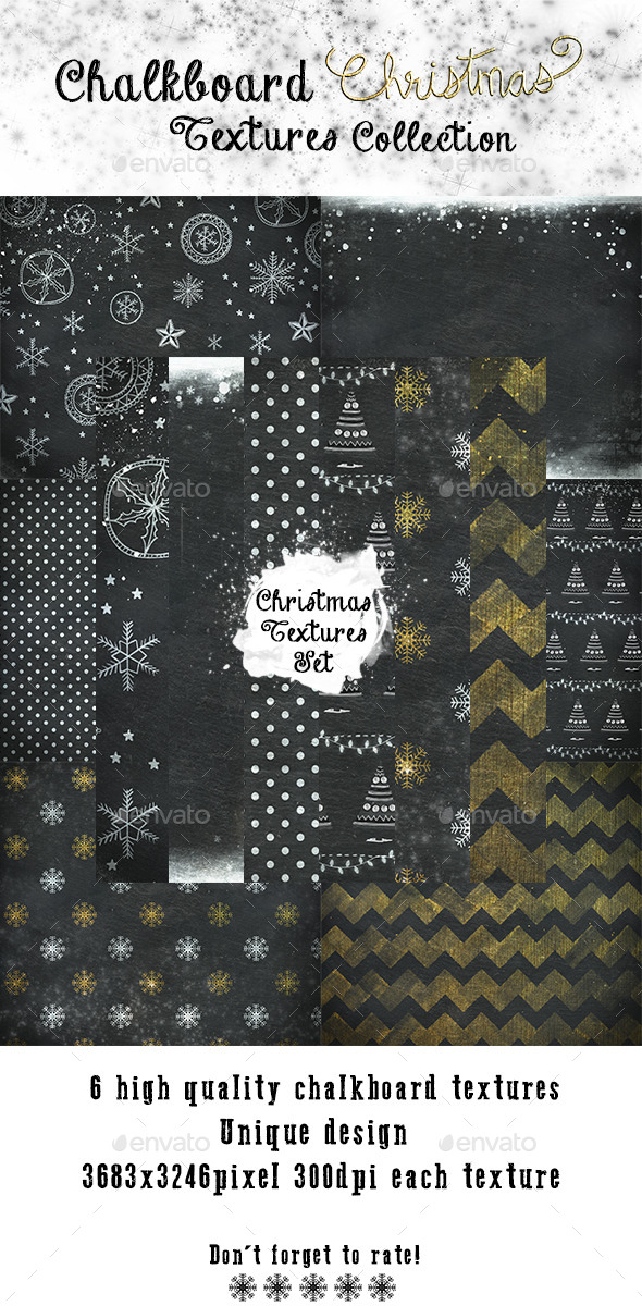 Christmas Chalkboard Textures - Paper Textures