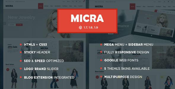 Micra – Responsive Multipurpose Magento Theme