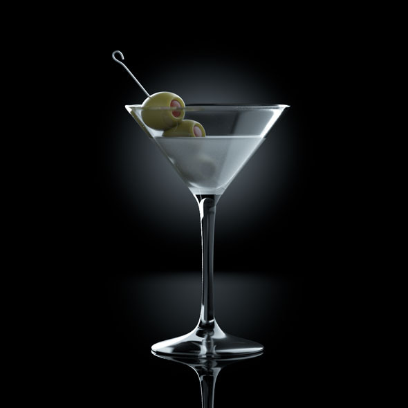 Frozen Martini drink - 3DOcean Item for Sale