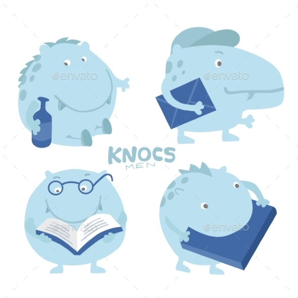 Hippo Character - Animals Characters