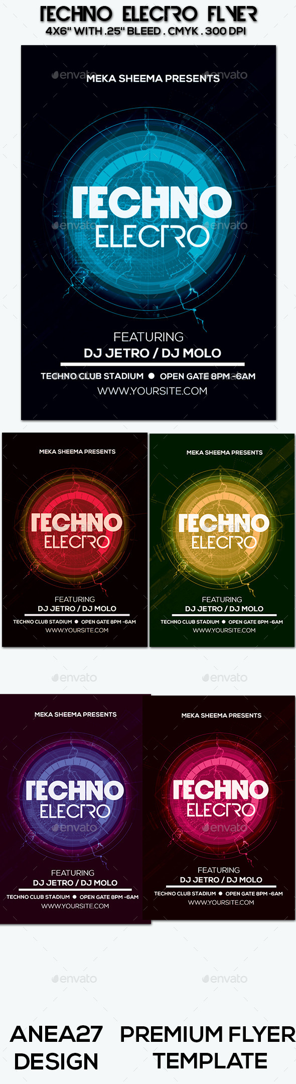 Techno Electro Flyer - Clubs & Parties Events