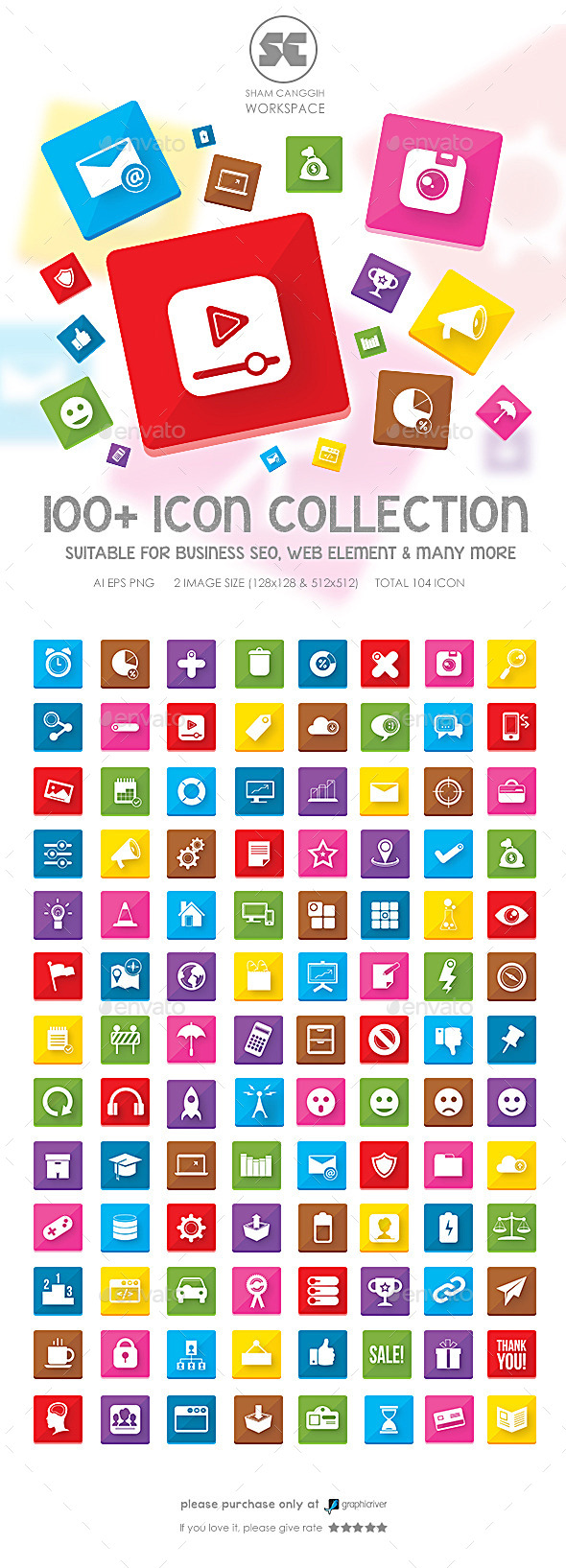 100 Flat Icons - Miscellaneous Icons