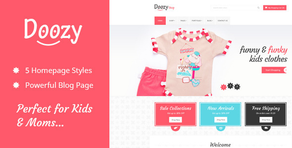 Doozy -  eCommerce & Blog PSD Template - Children Retail