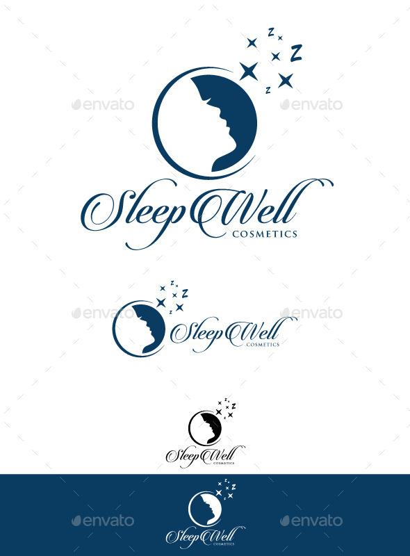 Sleep Well Cosmetics Logo - Humans Logo Templates