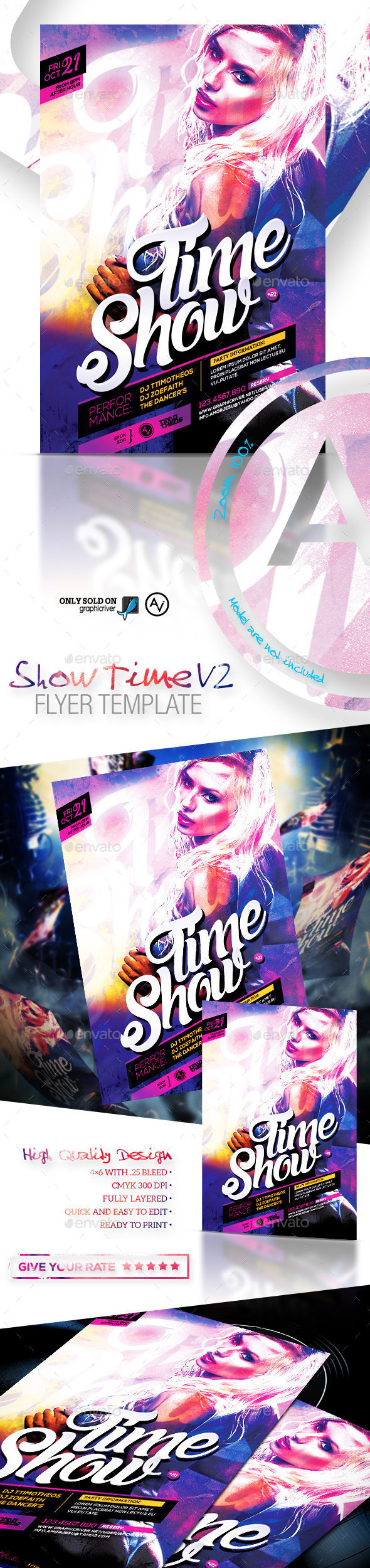 Show Time Flyer Template V2 - Clubs & Parties Events