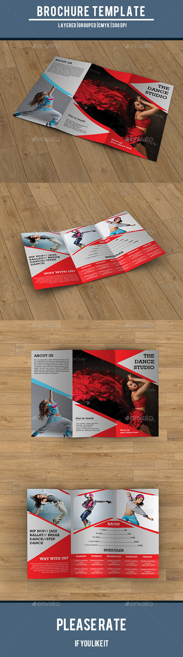Trifold Brochure for Dance Studio-V194 - Corporate Brochures