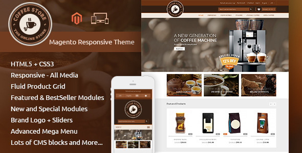 Coffee - Magento Responsive Theme - Shopping Magento