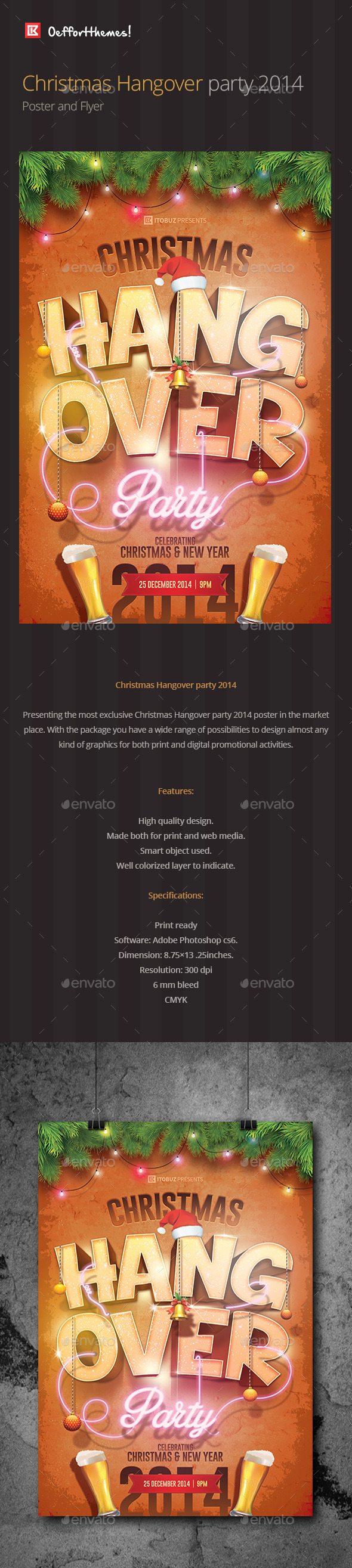 Christmas Hangover Party Poster and Flyer - Events Flyers