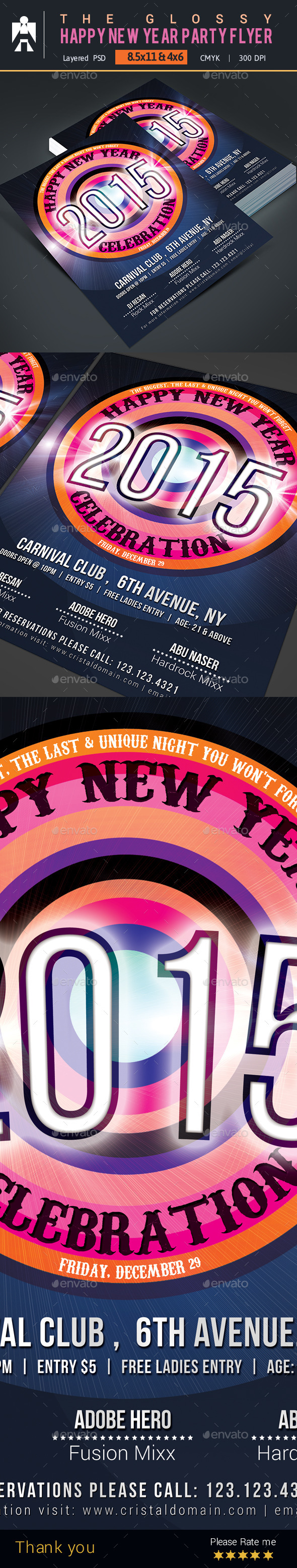 Happy New Year Party Flyer - Events Flyers