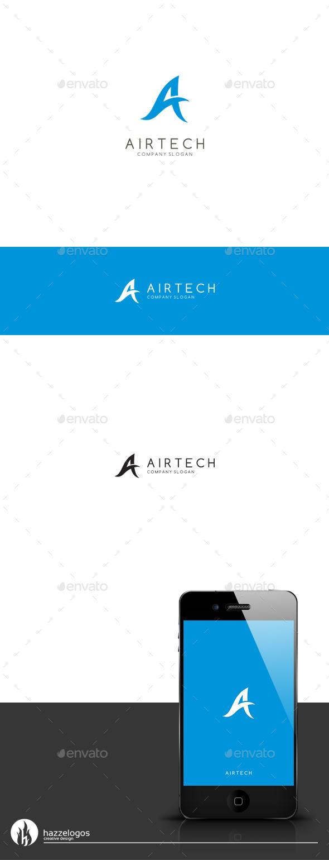Airtech - Letter A Logo - Letters Logo Templates