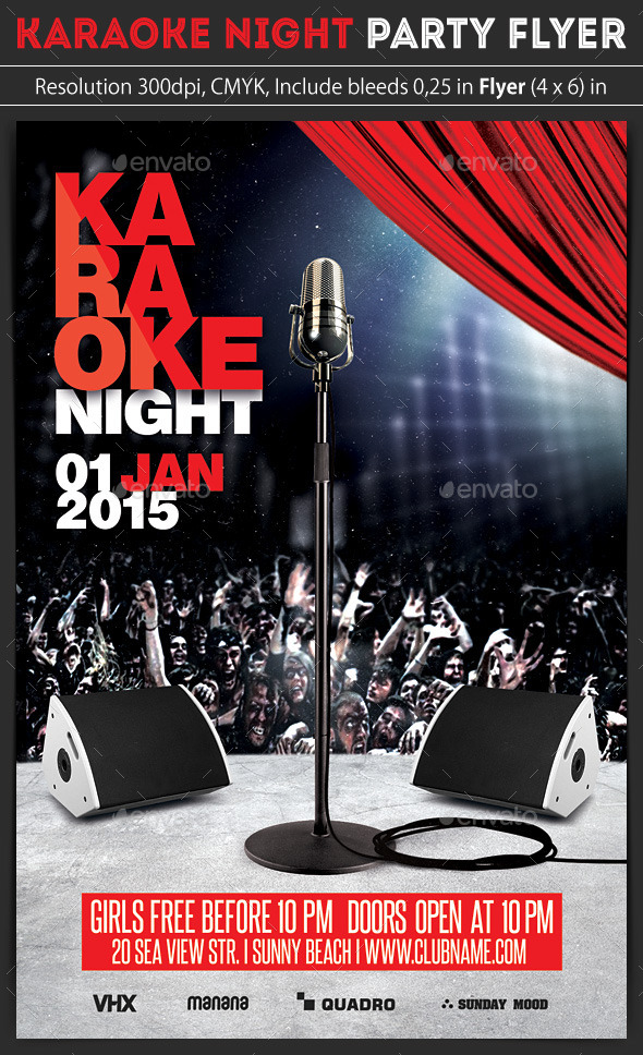 Karaoke Night Party Flyer By Grapulo | Graphicriver