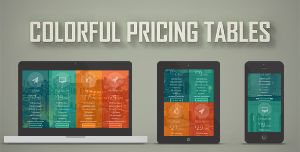 Colorful Pricing Tables nulled free download
