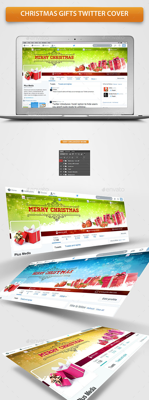 Christmas Gifts Twitter Profile Cover - Twitter Social Media