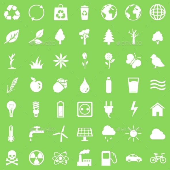 Vector Set of Ecologic Icons - Miscellaneous Icons