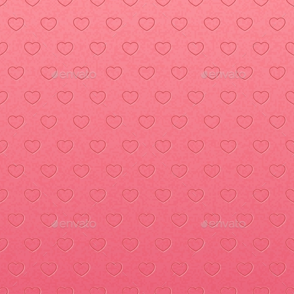 Vintage Pink Pattern of Hearts - Backgrounds Decorative