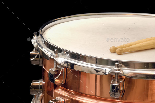 copper snare drum - Stock Photo - Images