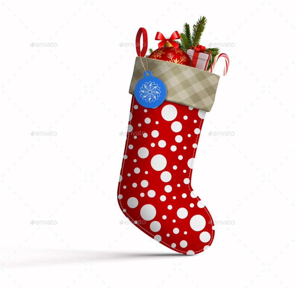 christmas stocking mockup by fusionhorn graphicriver