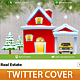 Christmas Real Estate Twitter Cover - GraphicRiver Item for Sale