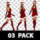 Christmas Santa Girl Sexy High Heel Walk 3 Pack - VideoHive Item for Sale