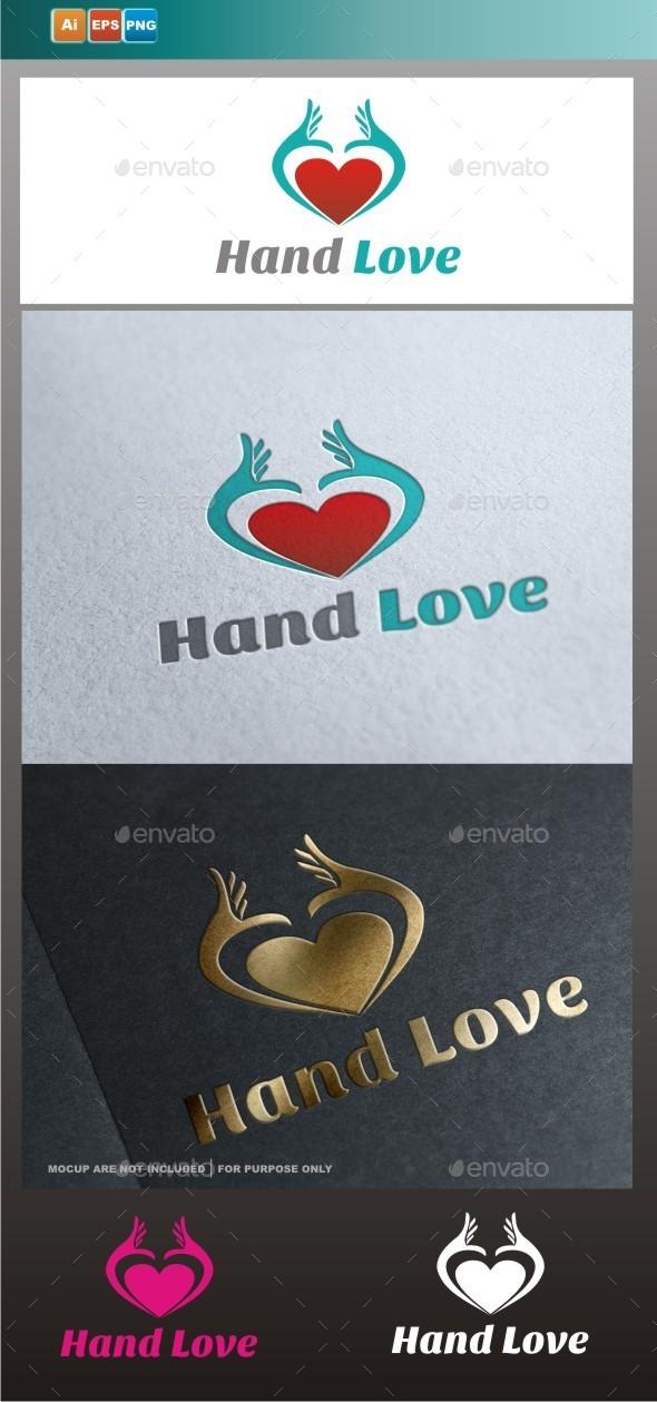 Hand Love - Symbols Logo Templates